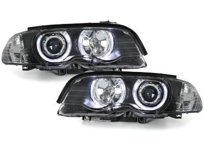 LED Angel Eyes Scheinwerfer BMW E46 Coupe 98-01 schwarz
