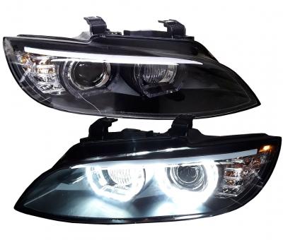 LED DRL Xenon Scheinwerfer BMW E92 E93 05-10 schwarz o. AFS
