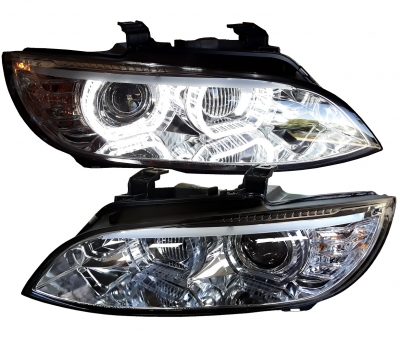 LED DRL Xenon Scheinwerfer BMW E92 E93 05-10 chrom o. AFS