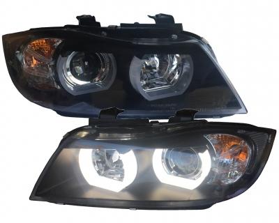Lightbar Xenon D1S Scheinwerfer BMW E90 E91 05-08 schwarz HID