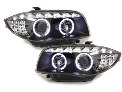 Tagfahrlicht-Optik Scheinwerfer BMW 1er E87 E81 04-11 schwarz