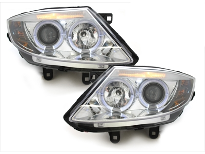 LED Angel Eyes Scheinwerfer BMW Z4 02-08 chrom