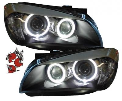 LED Angel Eyes Scheinwerfer BMW X1 E84 09-06/12 schwarz