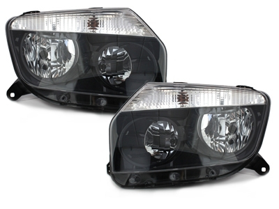 Scheinwerfer Dacia Duster 09-14 schwarz Klarglas Depo