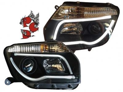 Light-Tube Scheinwerfer Dacia Duster 09-14 schwarz
