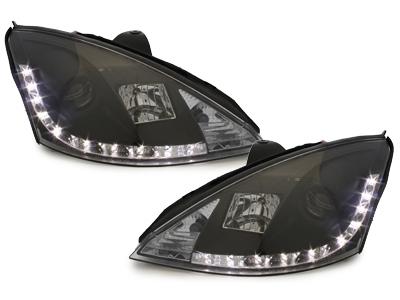 Scheinwerfer Ford Focus 01-04 Tagfahrlicht-Optik schwarz ASGXB