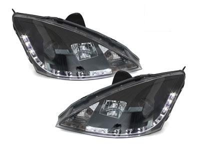 Scheinwerfer Ford Focus 98-01 Tagfahrlicht-Optik schwarz SGXB