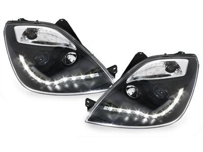 Scheinwerfer Ford Fiesta 01-05 Tagfahrlicht-Optik schwarz