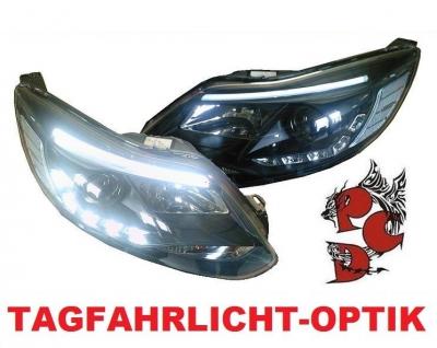 Light-Tube LED Scheinwerfer Ford Focus 11-14 schwarz