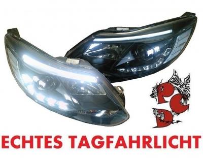 Lightbar Tagfahrlicht Scheinwerfer Ford Focus 11-14 MK3 schwarz