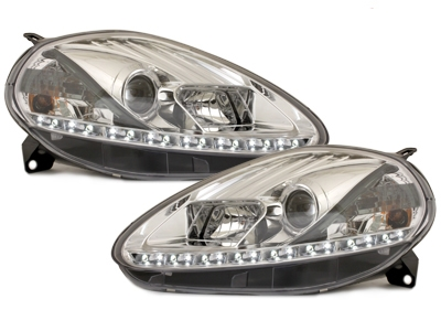 LED TAGFAHRLICHT Scheinwerfer Fiat Grande Punto 05-08 chrom