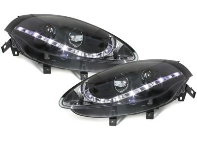 DRL Scheinwerfer Fiat Bravo 07+ LED Tagfahrlicht schwarz