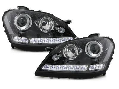 Scheinwerfer Mercedes ML W164 08-11 Tagfahrlicht-Optik schwarz