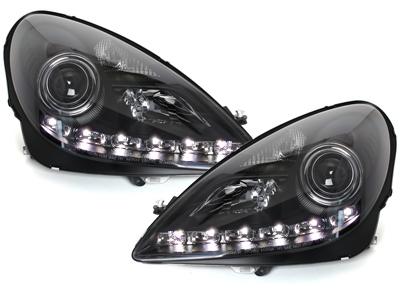 Scheinwerfer MERCEDES BENZ SLK R171 04-11 TFL-Optik schwarz