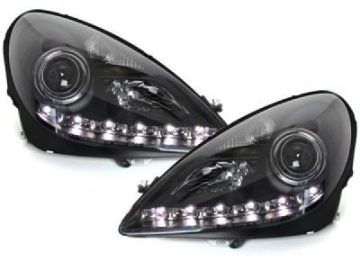 LED TAGFAHRLICHT Scheinwerfer schwarz MERCEDES SLK R171 04-11