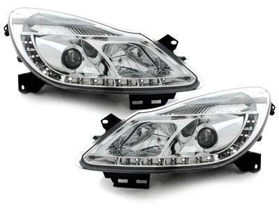LED TAGFAHRLICHT Scheinwerfer Opel Corsa D 06-10 chrom