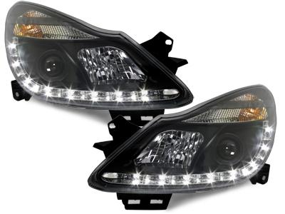 LED TAGFAHRLICHT Scheinwerfer Opel Corsa D 06-10 black schwarz