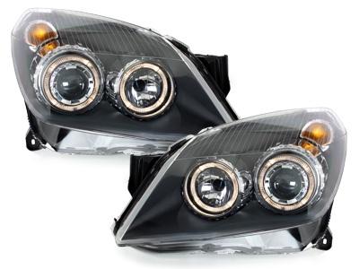 Angel Eyes Standlicht Scheinwerfer Opel Astra H 04-09 schwarz