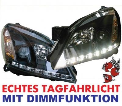 LED Tagfahrlicht Scheinwerfer Opel Astra H 04-09 black schwarz