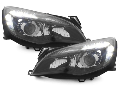 LED TAGFAHRLICHT Scheinwerfer Opel Astra J 09-12 schwarz Depo
