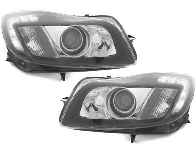 LED Tagfahrlicht Scheinwerfer Opel Insignia 09+ schwarz DEPO
