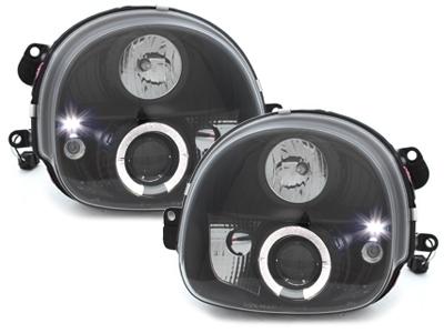 LED Angel Eyes Scheinwerfer Renault Twingo 92-06 schwarz
