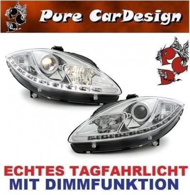 LED TAGFAHRLICHT Scheinwerfer Seat Leon 1P / Altea 05-09 chrom