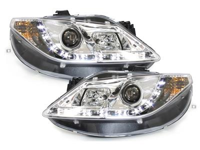 Tagfahrlicht-Optik Scheinwerfer Seat Ibiza 6J 08-12 chrom
