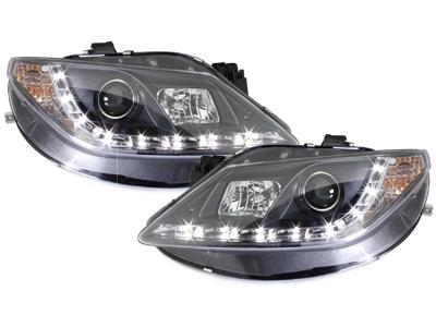 Tagfahrlicht-Optik Scheinwerfer Seat Ibiza 6J 08-12 schwarz