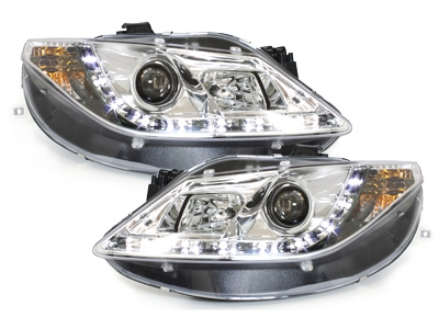 LED TAGFAHRLICHT Scheinwerfer Seat Ibiza 6J 08-12 chrom