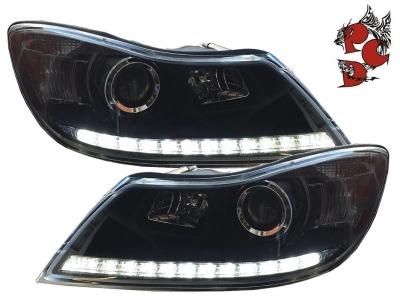 LED Tagfahrlicht Scheinwerfer Skoda Octavia 1Z 09+ schwarz