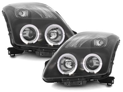 Scheinwerfer Suzuki Swift 05-10_ 2 Standlichtringe schwarz