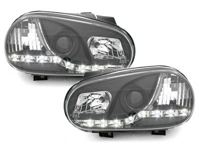 Scheinwerfer VW Golf 4 IV 97-04 Tagfahrlicht-Optik schwarz