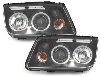 Scheinwerfer VW Bora 98-05 2 LED Standlichtringe schwarz