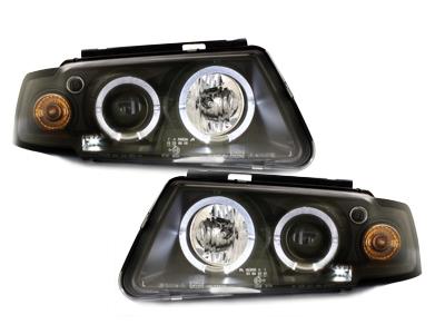 Scheinwerfer VW Passat 3B 96-00 2 Standlichtringe schwarz