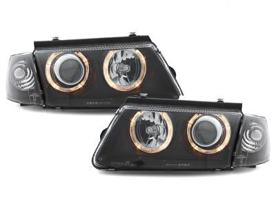 Scheinwerfer VW Passat 3B 96-00 2 Standlichtringe schwarz DEPO