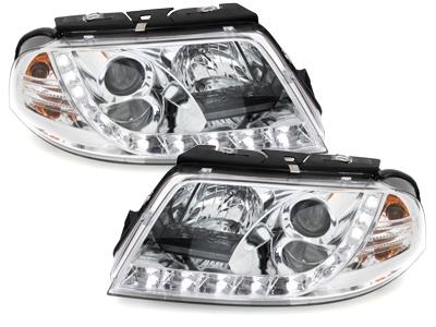 LED TAGFAHRLICHT Scheinwerfer VW Passat 3BG 01-04 chrom