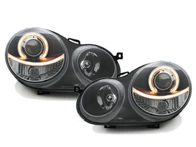 Scheinwerfer VW Polo 9N 11.01-04.05 1 Standlichtring schwarz
