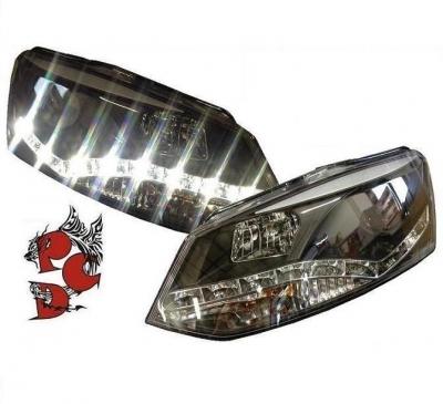 LED Tagfahrlicht Scheinwerfer VW Polo 6R 09-14 schwarz SONAR