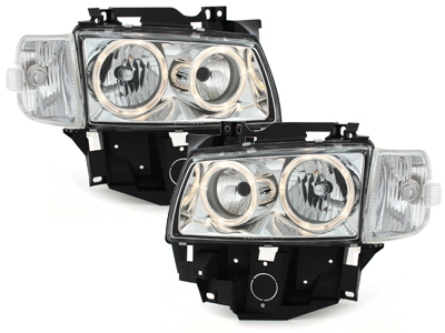 Angel Eyes Scheinwerfer VW T4 97-03 LV 2 Standlichtringe chrom