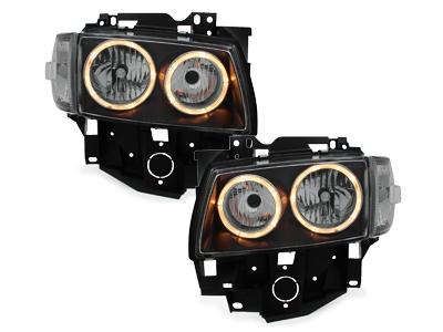 Angel Eyes Scheinwerfer VW T4 97-03 LV 2 Standlichtringe schwarz