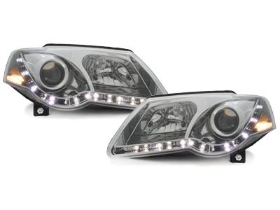 Scheinwerfer VW Passat 3C B6 05-10 Tagfahrlicht-Optik chrom Sona