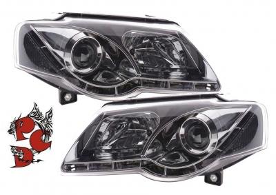 LED TAGFAHRLICHT Scheinwerfer VW Passat 3C B6 05-10 chrom