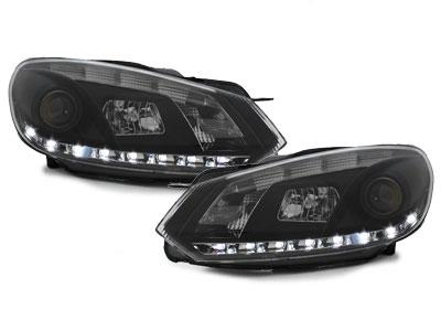 LED TAGFAHRLICHT Scheinwerfer VW Golf 6 VI 08-12 schwarz LGXB