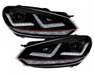 OSRAM XENARC Xenon Tagfahrlicht Scheinwerfer GTI-Look VW GOLF 6 für HALOGEN