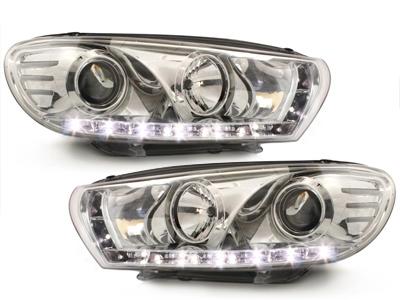 LED TAGFAHRLICHT Scheinwerfer VW Scirocco 3 III chrom