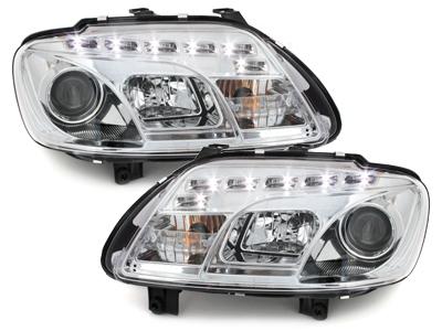 Scheinwerfer VW Caddy 03-06 Tagfahrlicht-Optik chrom