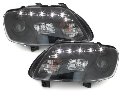 Scheinwerfer VW Caddy 03-06 Tagfahrlicht-Optik schwarz