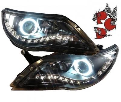 Scheinwerfer VW Tiguan 07-11 Angel Eye TFL-Optik schwarz EE