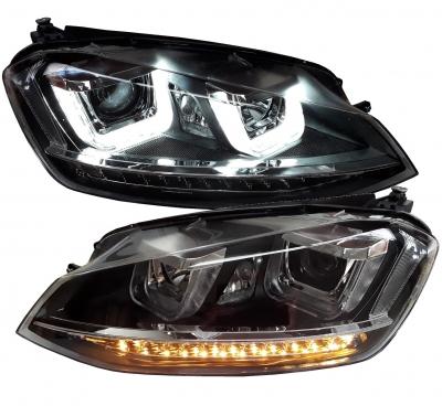 LED TAGFAHRLICHT Scheinwerfer VW Golf 7 VII 13+ mit LED-Blinker